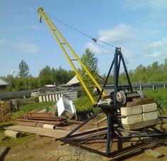 Самодельная машина Пионер Farm Projects, Metal Projects, Construction Lift, Truck Mounted Crane, Mechanical Advantage, Gantry Crane, Metal Working Tools, Iron Furniture, Homemade Toys