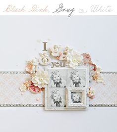 A Beautiful Soft and Pastel Layout by Delaina Burns for PRIMA - Wendy Schultz ~ Prima Projects.