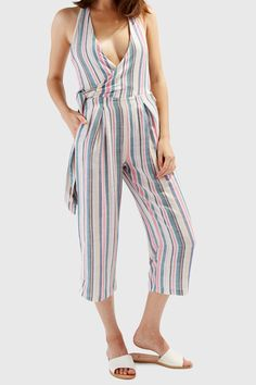 35f17608e1c0 Solid   Striped - The Camille Jumpsuit in Multi Stripe Solid And Striped