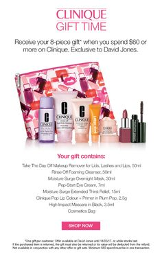 Clinique GWP at David Jones (Australia) is going on now!