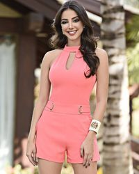 Pink romper dress for summer Sexy Dresses, Casual Dresses, Short Dresses, Casual Outfits, Fashion Outfits, Love Fashion, Romper Dress, Cute Rompers, Short Outfits