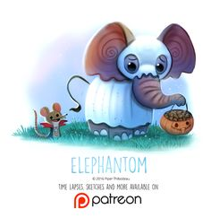 Day+1434.+Elephantom+by+Cryptid-Creations.deviantart.com+on+@DeviantArt