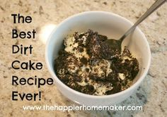 Best Dirt Cake Recipe ever! www.thehappierhomemaker.com