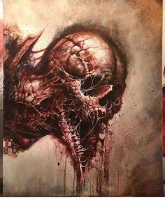 "@artforthesick on Instagram: ""By @jesselevitt"" Monster Design, Monster Art, Kopf Tattoo, Heavy Metal Art, Dark Creatures, Creepy Drawings, Satanic Art, Horror Artwork, Dark Artwork"