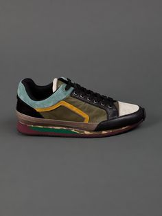 Dries Van Noten Multi Panel Sneaker - - Farfetch.com