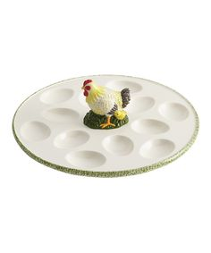 Look at this Southern Rooster 10'' Egg Tray on #zulily today!