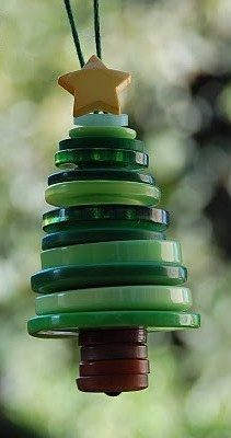 buttons cute christmas tree