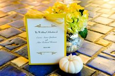 yellow wedding invitaitons Rustic Wedding Stationery, Rustic Wedding Programs, Yellow Wedding Invitations, Wedding Stationary, Country Style Wedding, Chic Wedding, Fall Wedding, Wedding Dreams, Yellow Wedding Colors