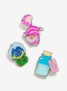 Disney Alice In Wonderland Enamel Pin Set,