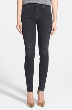 best distressed black skinny jeans...