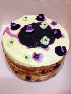 Triple Layer Orange, Blueberry and White Chocolate Cake- The Caker