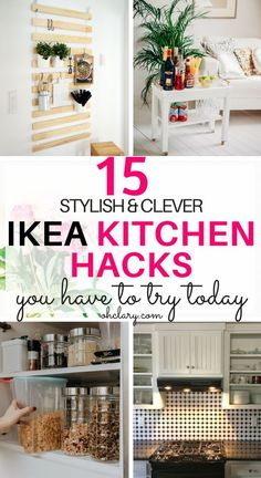 Are you looking to upgrade your IKEA furniture with some simple hacks? These 15 Ikea Kitchen Hacks will make your kitchen gorgeous while staying on a budget! Ikea kitchen cabinets, ikea kitchen remodel, ikea kitchen ideas, ikea kitchen island, ikea kitche