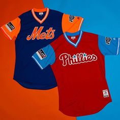 """bcf9d801952965 UNISWAG on Instagram: """"@mets & @phillies wearing this Players Weekend  jerseys for the # LittleLeagueClassic game. #uniswag"""". Baseball Uniforms"""