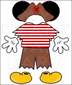 Mickey Mouse Pirate body parts for state room Disney cruise door INSTANT DOWNLOAD digital clip art :: My Heart Has Ears