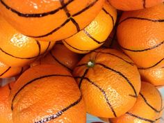 Oranges become basketballs! PERFECT for National School Lunch Week: Get in the Game with School Nutrition (https://www.facebook.com/SchoolMealsThatRock)