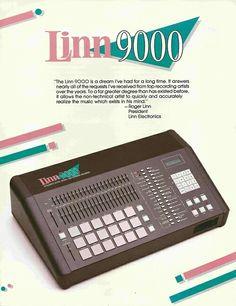 Linn 9000 drum machine.