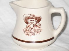 Buffalo Bill creamer unmarked Wallace China Westward Ho cowboy western ware