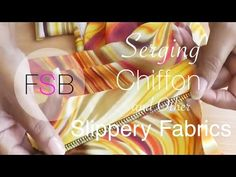 Serging Chiffon and Other Slippery Fabrics. The first thing we need to establish about your machine, is if it has a differential feed or not. Sheer Fabrics, Satin Fabric, Silk Satin, Sewing Hacks, Sewing Tutorials, Sewing Tips, Serger Projects, Sewing Projects, Brother 1034d Serger