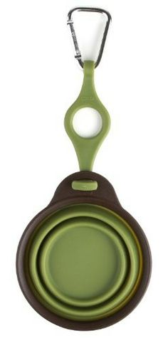 Dexas Popware for Pets Travel Cup/Bowl with Bottle Holder, Small, Green - Feeding & Watering Supplies #Dogs #Dog #Pets #Pet #Gift #Gifts #Christmas #Holiday #Holidays #Present #Presents #Accessories #Dog #Dogs #Bowl #Bowls #Feeding #Watering #Supplies $9.74