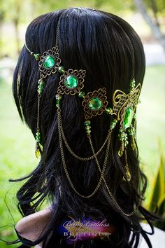 Emerald Butterfly Goddess Circlet by BlingGoddessBoutique on Etsy, $159.00
