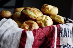 Goat Cheese and Rosemary Mini Popovers - In Sock Monkey Slippers (Christmas Thanksgiving Dinner Lunch Wheat Dairy Gluten Egg products Animal...