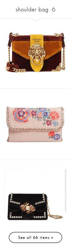 """shoulder bag  6"" by laumariborche ❤ liked on Polyvore featuring bags, handbags, shoulder bags, purses, bolsas, borse, prada, multicoloured, brown purse and hand bags"