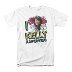 Are you a huge Saved By the Bell Fan?! Then this Kelly Kapowski T-shirt is just what your wardrobe has been missing all these years.  #tbt #90s #90sTV #kellykapowski #savedbythebell #nineties #throwback #classic #nostalgia #WishApp
