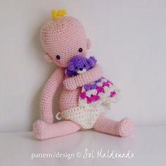New! Crochet patten amigurumi crochet baby doll - babies crochet toy playfull doll - Instant Download