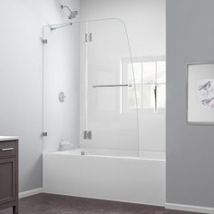 DreamLine AquaLux 48 in. x 58 in. Semi-Framed Pivot Tub/Shower Door in Chrome-SHDR-3348588-01 - The Home Depot