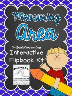 Measuring Area Interactive Flipbook- Common Core 3rd Grade