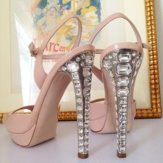b70a4e3823216 Miu Miu Crystal Heel Sandal. Hottes shoes right now  http   jetsetbabe