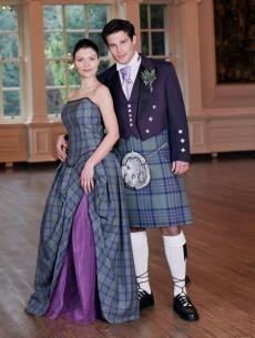 Isla, Tartan (Plaid) Wedding Dress | Scottish kilts online shop - Buy tartan kilt - Edinburgh.