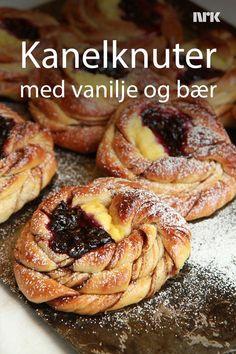 Kanelknuter med vaniljekrem og solbær fra Lise Finckenhagen.