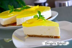 Cheesecake cu lamaie Cheesecake, Baking, Desserts, Recipes, Food, Jello, Mint, Tailgate Desserts, Deserts
