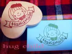 Beret women hand made off Gomuhanko Rubber Stamp Eraser Stamp
