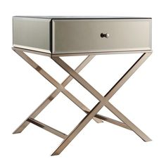 INSPIRE Q Genoa X Base Mirrored Accent Campaign Table - Overstock™ Shopping - Great Deals on INSPIRE Q Coffee, Sofa & End Tables