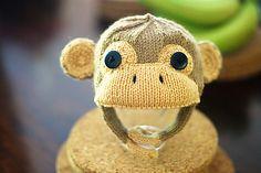 Knit Monkey Hat from Ravelry