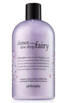Philosophy Dance of the Dew Drop Fairy Shower Gel 16 oz Dance Of The Dew Drop Fairy Shampoo, Shower Gel & Bubble Bath gently cleanses and conditions skin and hair with a rich, creamy lather, leaving you soft, silky and lightly scented from head to toe. Philosophy Shower Gel, Philosophy Skin Care, Philosophy Products, Bath Gel, Body Cleanser, Bubble Bath, Smell Good, Bath And Body Works, Body Wash