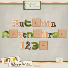 Autumn Adventures Alphas - $1.63 : Digital Scrapbooking Studio