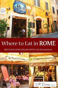 to Eat and How to Find the Best Food in Rome Where to eat and how to find the best Italian food in Rome. Best tips in one place!Where to eat and how to find the best Italian food in Rome. Best tips in one place! European Vacation, Italy Vacation, European Travel, Italy Trip, Vacation Places, Vacation Ideas, Best Food In Rome, Rome Food, Italy Travel Tips