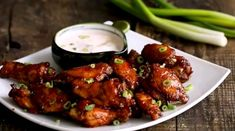 Oven BBQ Chicken Wings - this is by far one of the best ways of preparing chicken wings. The spicy sweet sticky sauce is simply amazing and hard to resist. Roast Chicken Recipes, Chicken Wing Recipes, Healthy Chicken Recipes, Cooking Recipes, Easy Recipes, Chicken Meals, Oven Recipes, Easy Meals, Baked Bbq Chicken Wings