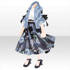 Flavory Leaves Cafe|@games -アットゲームズ- Fashion Line, Fashion Art, Fashion Outfits, Fashion Design, Manga Clothes, Drawing Anime Clothes, Character Costumes, Character Outfits, Anime Outfits