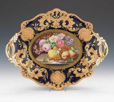 Ridgeway Porcelain Dessert Tazza, ca. Old Plates, Antique Plates, China Plates, Vintage Plates, Plates And Bowls, Decorative Plates, Japanese Porcelain, China Porcelain, Chocolate Pots