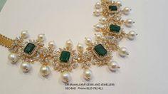 Regal Diamond Set by Mahalaxmi Jewellers - Jewellery Designs India Jewelry, Temple Jewellery, Gold Jewellery Design, Gold Jewelry, Diamond Jewelry, Antic Jewellery, Diamond Choker, Emerald Diamond, Latest Jewellery