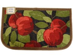 Red+Apples+Kitchen+Rug+Apple+Leaves+Mat Give your kitchen an update with this rug that has clusters of red apples on branches with leaves. $24.95