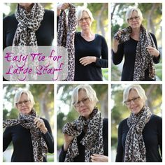 Easy tie for a large scarf from Une Femme d'un Certain Age