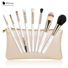 DUcare make up brushes 8pcs brush set professional Nature bristle brushes beauty essentials  makeup brushes with bag top quality -  http://mixre.com/ducare-make-up-brushes-8pcs-brush-set-professional-nature-bristle-brushes-beauty-essentials-makeup-brushes-with-bag-top-quality/  #MakeupBrushesTools