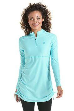 416a9eb7d3701 Ruche Swim Shirt  Sun Protective Clothing - Coolibar Uv Swimwear