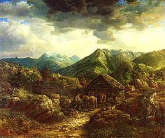 lars hertervig - Pesquisa Google Dahl, Beautiful Images, Norway, 19th Century, Coastal, Scenery, Paintings, Drawings, Kunst