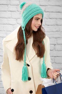 Free Ganymede Hat Crochet Pattern from www.RedHeart.com